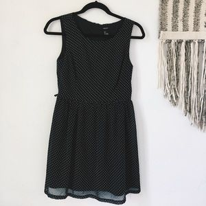Lace black and white dress